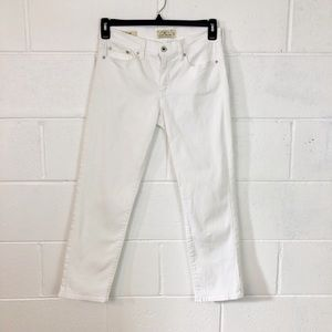 Lucky Brand White Sweet Crop Jeans